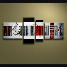 Hand-painted Tetraptych Modern Abstract Painting Wall Art Inner Stretched