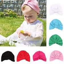NEWBORN BABY GIRL BOY KNOT Beanie COTTON FALL HAT TODDLER ADORABLE HAT CUTE CAP