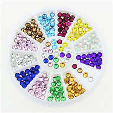 Top Nail 1 Wheel Nail Art Resin Multi-Color Crystal Rhinestones Manicure Decor