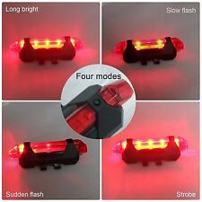Rear LED Bike Bicycle Tail Light USB Rechargable and Four Modes Easy To Instal