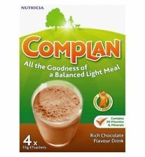 Complan Chocolate Flavour Nutrition Drink Powder 4 x 57g Sachets 1 2 3 6 Packs