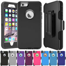 Defender Series Shockproof Case Cover + Belt Clip Holster For iPhone 6 6S 7 Plus