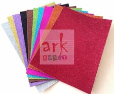 Ark Craft A4 Soft Touch Glitter Card 250GSM white backed. 11 colours available.