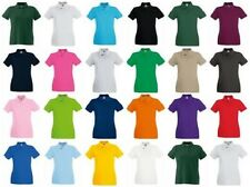 FRUIT OF THE LOOM LADY FIT WOMENS SOFT COTTON POLO SHIRT WORKWEAR CASUAL WORK
