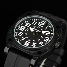 INFANTRY INFILTRATOR Mens Quartz Wrist Watch Army Tactical Military Black Rubber