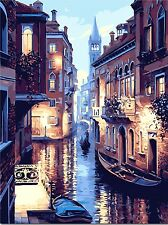 Oil painting by numbers DIY drawing color painting by hand wall paint landscape