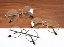 Oval Unisex Glasses Computer Lenses Round Metal Frame Anti Blue Ray Spectacles