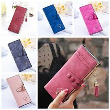 Handbag Clutch Bag Hasp Long Purse Matte PU Leather Women Wallet Card Holder