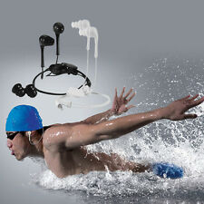 3.5mm Waterproof Earphone Headphone Stereo MP3 FM iPod iPhone For Swimming Sport