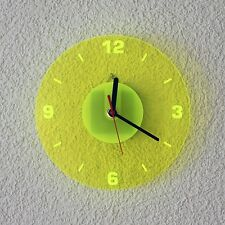 Acrylic glass Quartz Wall Clock 19cm Round neon transparent fluorescent