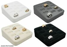 Novel Box™ 12 Slot Ring/Cufflink Tray Stand Holder Jewelry Display 5.75X5X2""