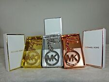 NWT Michael Kors MK key Chain Charms, Silver/Gold/Rose Gold