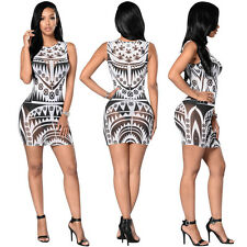 Sexy Women Bodycon Geometric See Through Mini Dress Party Night Club Clubwear