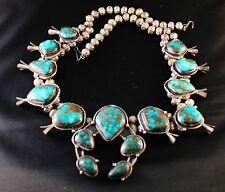 RARE American Native Turquoise Jewelry Set AUTHENTIC ONE OWNER! 3pc Blue Navajo