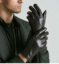 Alpine men's gloves dressy genuine leather winter warm gloves wrist strap