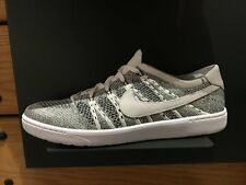 Nike Tennis Classic Ultra Flyknit White Grey Mens Casual Shoes 830704-100
