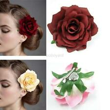 Women Lady Peony Flower Hair Clip Hairpin Brooch Beach Wedding Party Decoration