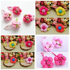 4pcs/lot Pumpkin flowers Hair Accessories Kids Girls Baby Hair Clips Hair rope