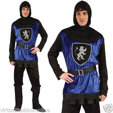 New Adult Men's Costume French Medieval Knight Fancy Dress Outfit one Size