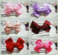 6pcs/lot color mix Satin Bow Hair Accessories Kids Girls Baby Hair Clips hairpin