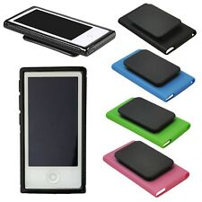 Soft Silicone Rubber Case Cover w/Belt Clip For Apple iPod Nano 7 7G 7th Gen