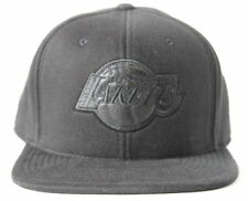 Mitchell and Ness NBA Los Angeles Lakers Team Logo Blacked Out Fitted Cap