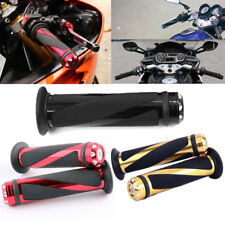 """Motorcycle CNC Aluminum Rubber Gel Hand Grips for 7/8"""" Handle Bar Bike Bicycle"""