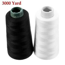 3000 Yard Polyester Sewing White Black Thread Household Sewing Machine Accessori
