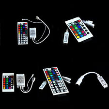 For 3528 5050 RGB LED Strip Light 3/10/24/44 Key IR Remote Wireless Controller G