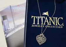 New Marcasite Heart Pendant with Chain. Titanic Jewelry Collection