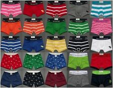 ABERCROMBIE & FITCH MENS BOXER BRIEFS BOXER SHORTS SOLID STRIPED UNDERWEAR NWT
