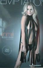 NEW LADIES WOMENS ANN SUMMERS ANIMA BLACK RIBBON DRESS BOXED + FREE HOLD UPS !!