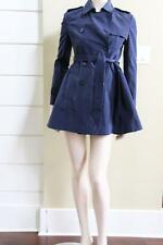 NEW AUTH Red Valentino Navy Double Breast Rain Trench Coat IT 38-44 $995
