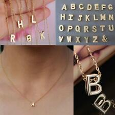 Initial Chain Letters Gifts Gold Plated Name Pendant Stylist Necklace Alphabet