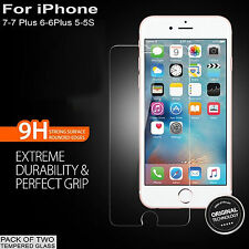 2X Anti Scratch Tempered Glass Screen Protector film for iphone 7 7 plus 6s 6+