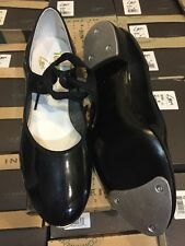 LEO's LEO 808W Tap Dance shoes BLK patent leather w/ bows Tempo TODDLER / CHILD