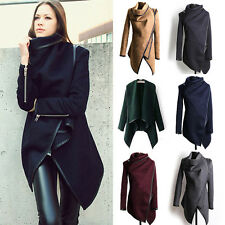 Womens Trench Coat Ladies Long Sleeve Winter Winter Jacket Parka Poncho Pullover