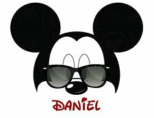 Personalized Mickey Mouse with glasses T Shirt Mickey Mouse All sizes