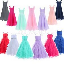 Flower Girls wedding Kids Formal Pageant Dresses Party Prom Princess Ball Gowns!