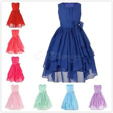 Flower Girls Dress Kids Party Pageant Wedding Bridesmaid PrincessTutu Dresses