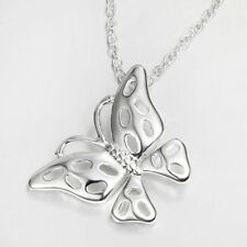 Silver Plated Butterfly Necklace Pendant Chain Necklace Fashion Jewelry Hollow