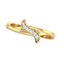 10k Solid Yellow Gold Round Cut CZ Fancy Ring New