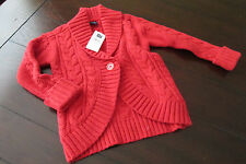 NWT Gap Baby girl red sweater size 12 18 or 18 24 months cardigan valentines day