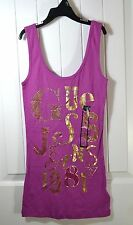 NWT GIRLS YOUTH GUESS JEANS 1987 PURPLE/GOLD TANK TOP T SHIRT SIZE SMALL