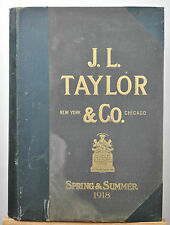 Huge Advertising Fabric Sample Book Style Prints 1918 J.L. Taylor & Co