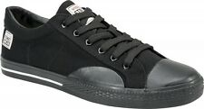 Vision Street Wear Mens Black Canvas Lo Shoes Skate Low Top Trainers