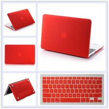 "2in1 Red Rubberized Matte Hard Case+Keyboard Cover for MacBook Air Pro 11"" 13"""