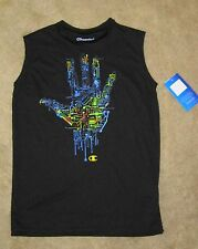 NWT Boys CHAMPION Authentic Silky Black Sleeveless Shirt - size L or XL