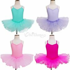 Girls Gymnastics Dancing Dress Kids Ballet Tutu Dancewear Leotard Skirt Costume