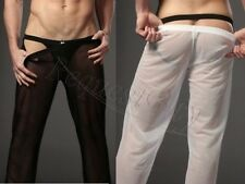 Sexy Men's See-through Mesh Long Johns Thermal Underwear Pants Sports Trousers